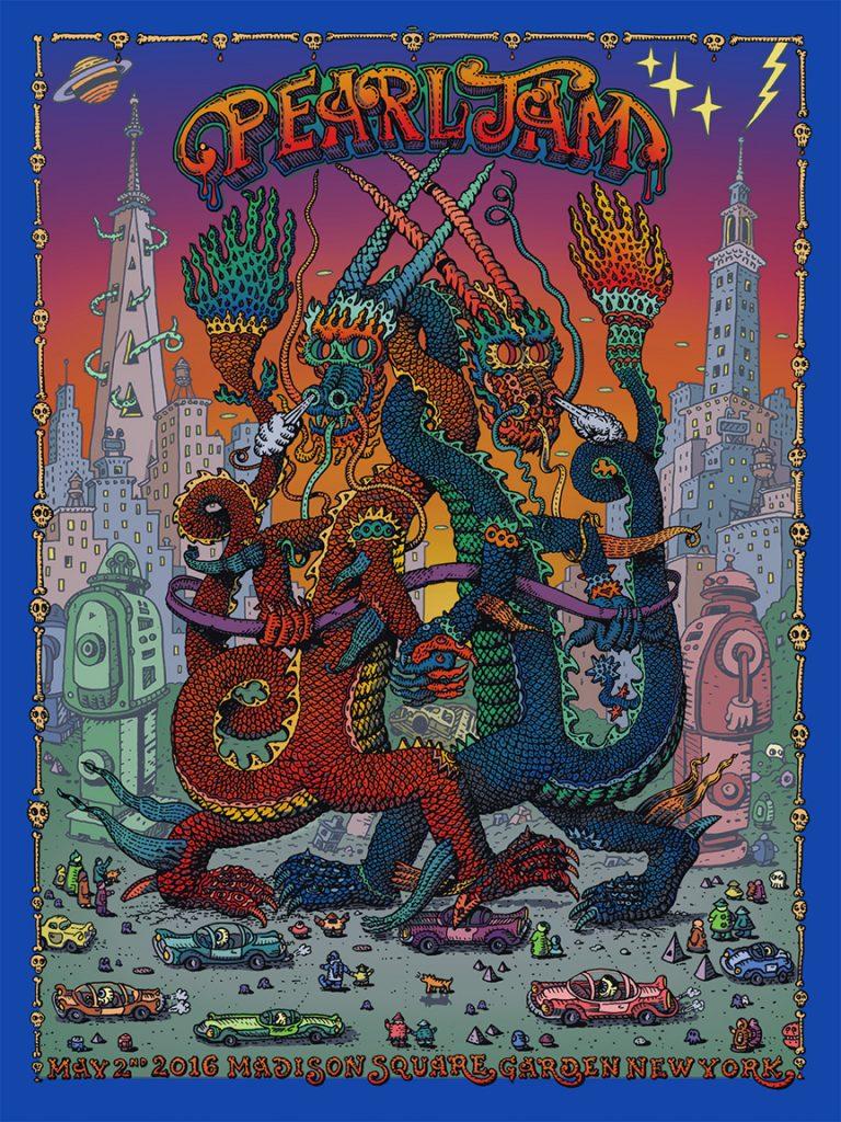 Pearl-Jam-David-Welker-New-York-Poster-MSG-Front